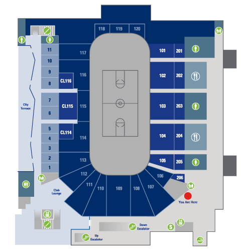 American Bank Center Floor Plan