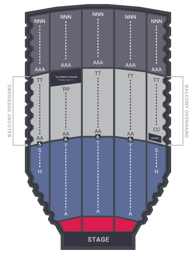 selena Auditorium floorplans